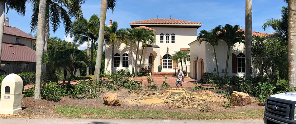 We removed trees from this property in Fort Myers, FL.
